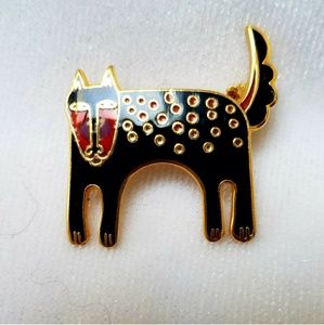 "VTG Laurel Burch ""Baby"" Cat Brooch"